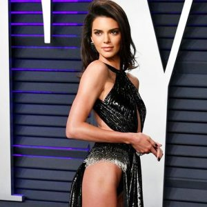 Kendall Jenner Pussy Slip at Vanity Fair Oscars Party