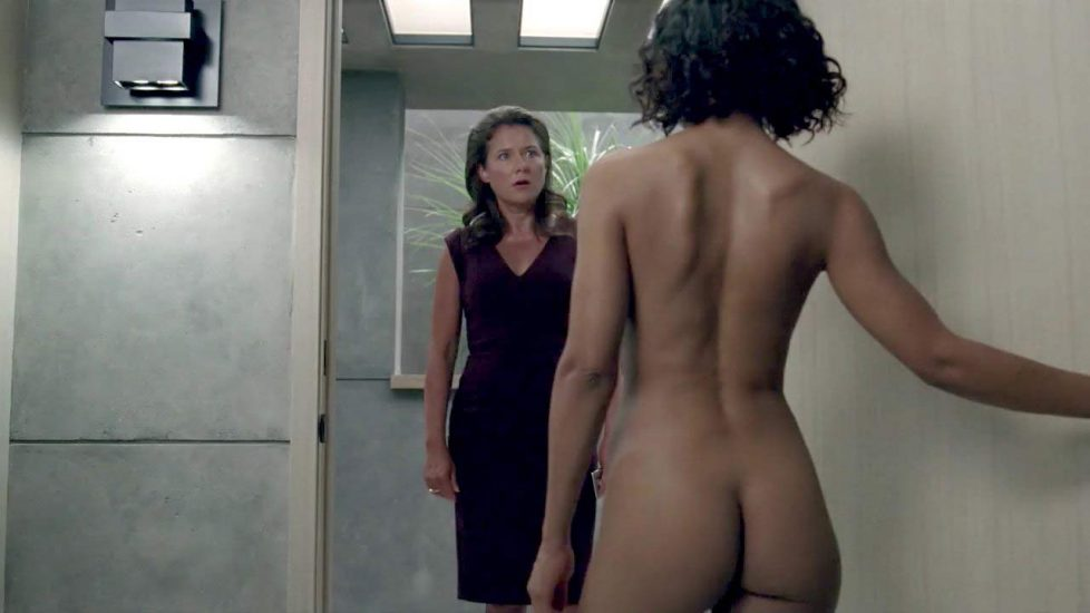 Tessa Thompson topless and ass