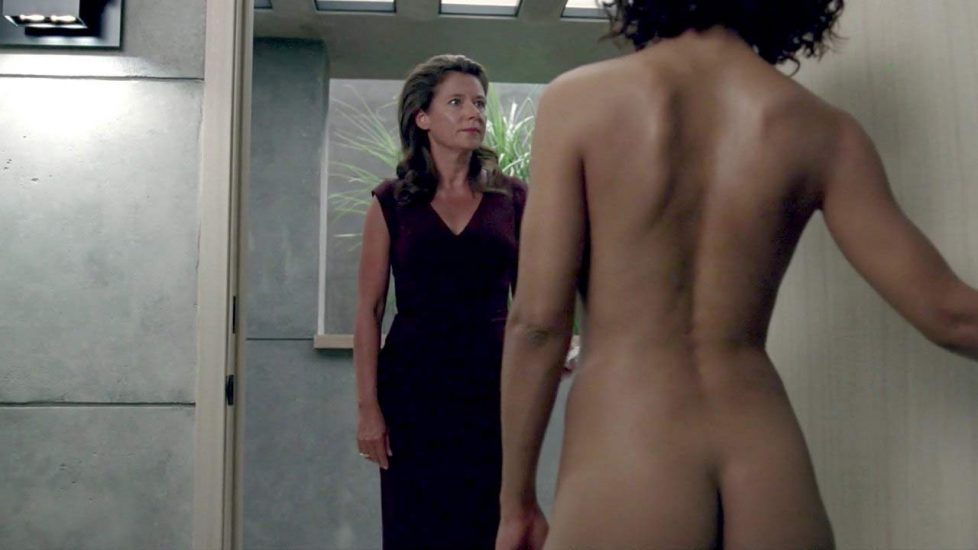 Tessa Thompson butt and topless scene