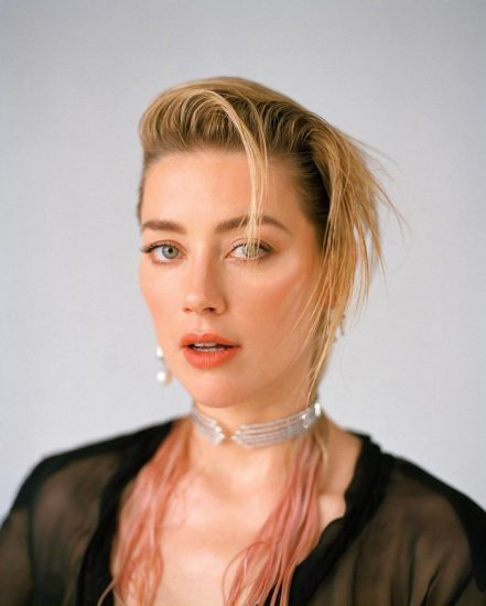 Amber Heard naked boobs in see through
