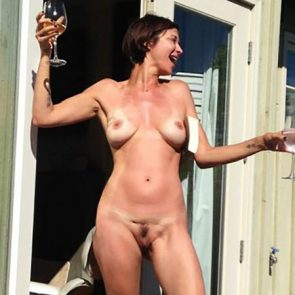 Big boobs shaved pussy