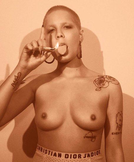 Halsey naked