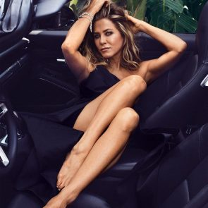 Jennifer Aniston sexy in the car