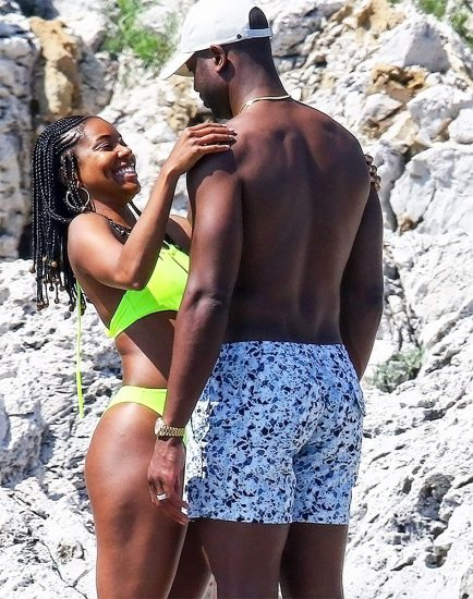 Gabrielle Union hot green bikini