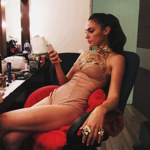 Gal Gadot hot in backstage