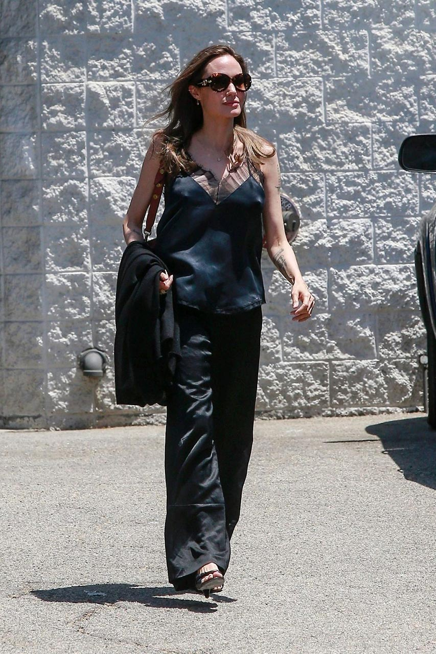 Angelina Jolie Braless