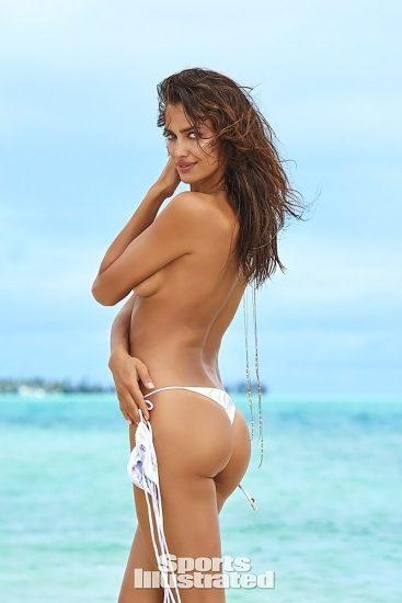 Irina Shayk covering the boobs