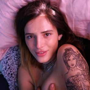 Bella Thorne naked in bed