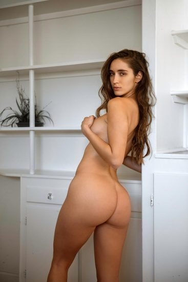 Natalie Roush naked ass and covered tits