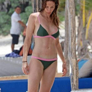 Whitney Cummings pink green bikini