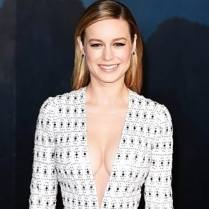 Brie Larson boobs in cleavage