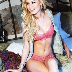 Brie Larson pink bikini