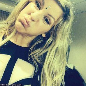 Ellie Goulding making faces