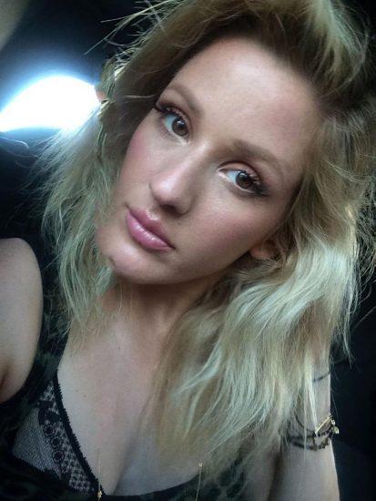 Ellie Goulding black bra hot selfie
