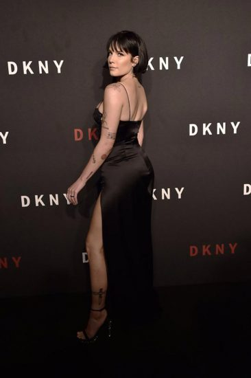 Halsey sexy dress