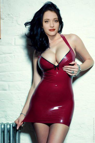 Kat Dennings boobs in cleavage