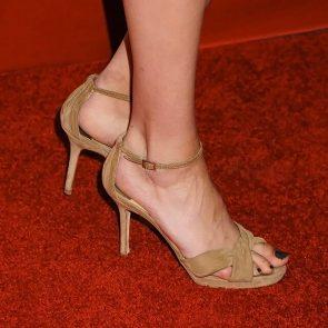 Willa Holland feet in beige heels