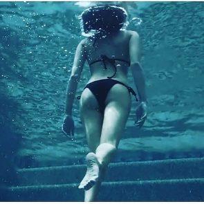 Willa Holland feet in swimming pool