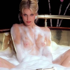 Dorothy Stratten covered with foam
