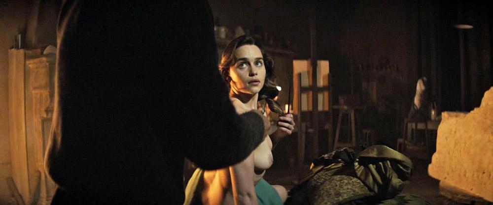 Emilia Clarke topless posing