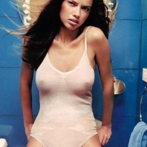 Adriana Lima nipples in see through
