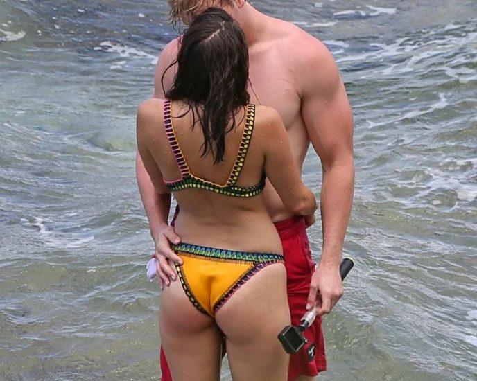 Chloe Bennett yellow bikini