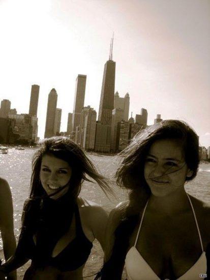 Chloe Bennett selfie with friends