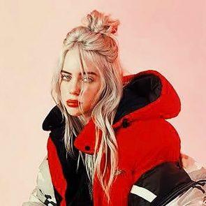 Billie Eilish hot in red hoodie