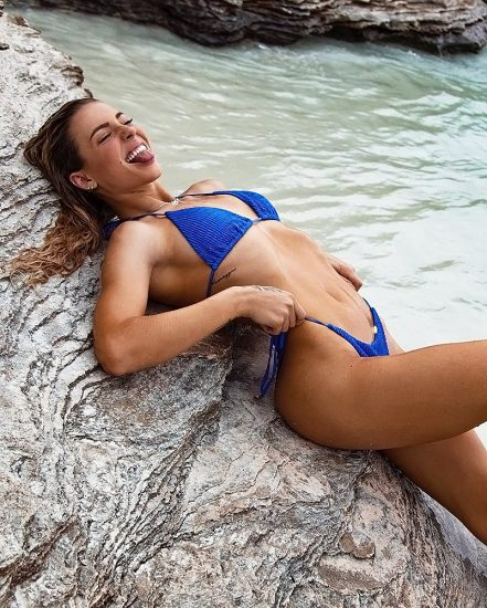 Charly Jordan blue bikini