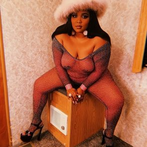 fat lizzo in see thru