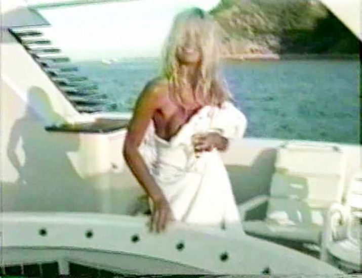 Pamela Anderson on the yacht