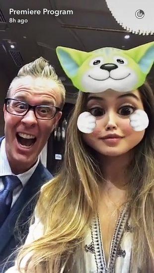 Paris Berelc snapchat selfie