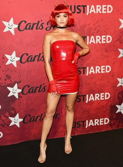 Paris Berelc hot red dress