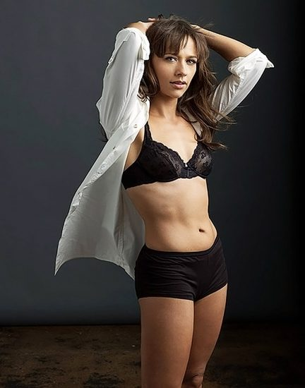Rashida Jones hot black bikini