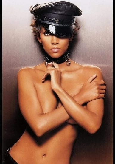 Halle Berry nude but covered