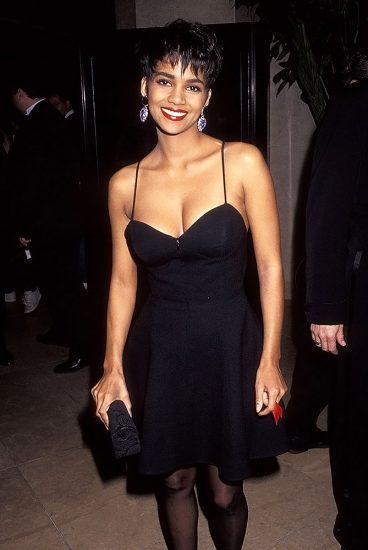Halle Berry black dress