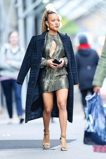 Karrueche Tran hot dress