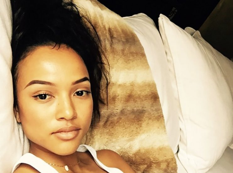 Karrueche Tran hot in bed