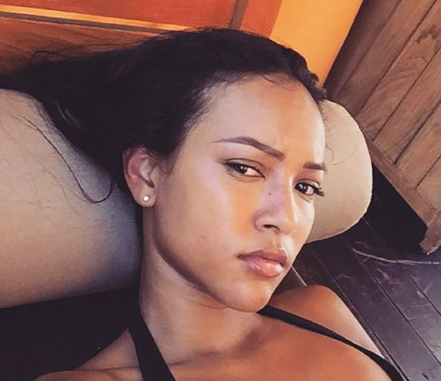 Karrueche Tran sexy in bed