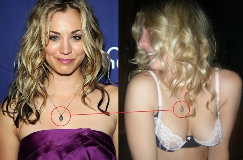 kaley cuoco poof of nudes