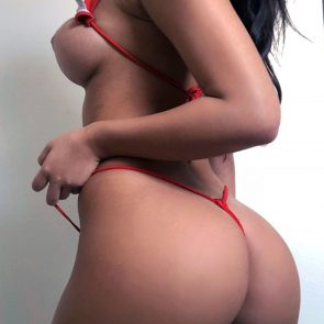 Amanda Trivizas nude with red lingerie