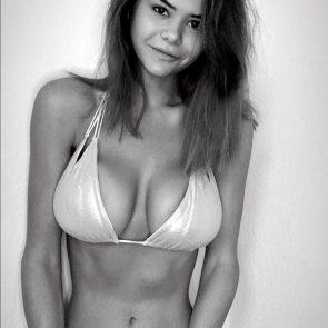 Ashley Tervort nude white bikini