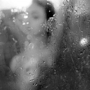 Nyvi Estephan Nudein shower