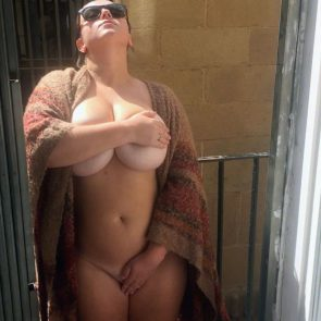 Tiffany Capotelli nude on balcony