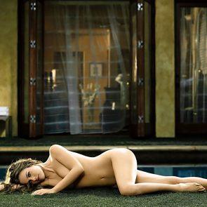 Alicia Silverstone nude lying down