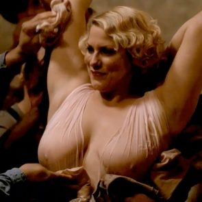 Cynthia Ettinger topless with naked big tits in Carnivale