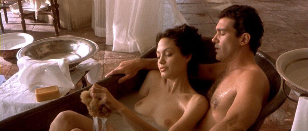 Angelina Jolie nude bath from Original Sin