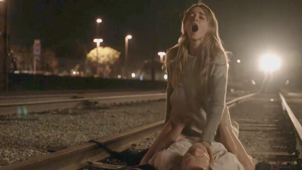 Bojana Novakovic drunk railway sex scene from Shameless - S05E11