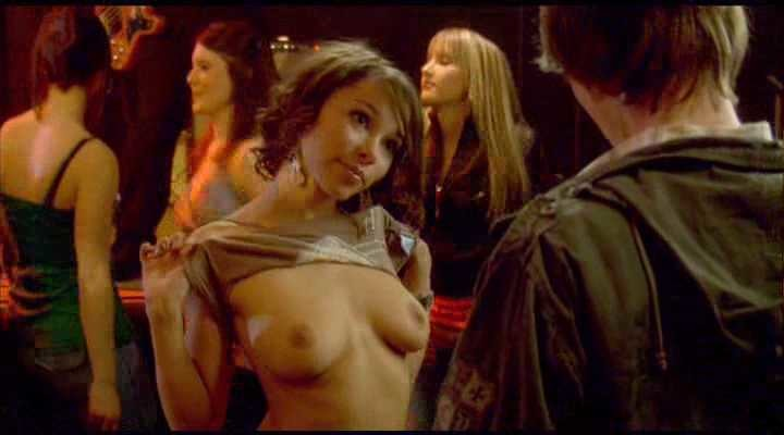 young Jessica Parker Kennedy topless scene from Decoys 2
