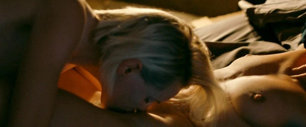 Natalie Krill and Erika Linder naked in sex scene from Below Her Mouth